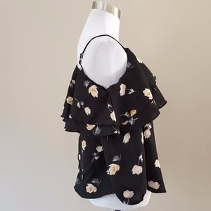 Camisole Blouse Small Black Floral Japana